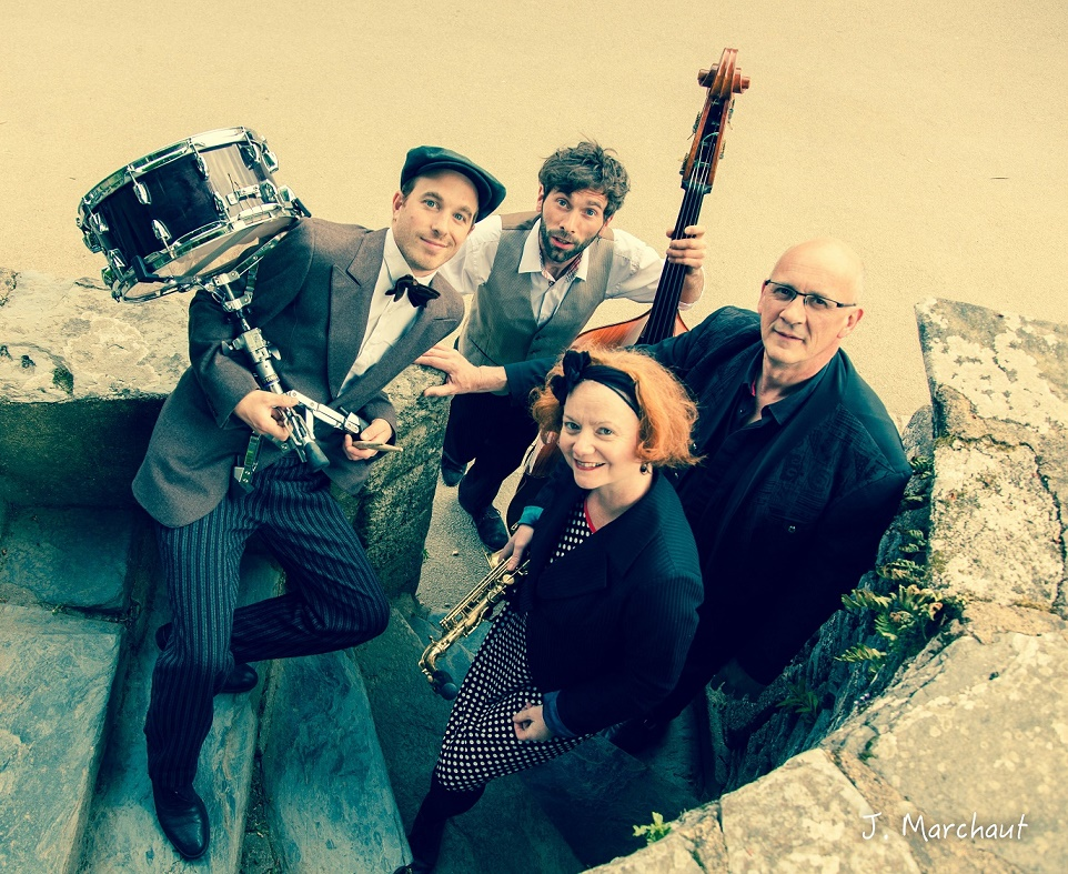 Concert au Kiosque - Centre bourg - Speakeasy quartet jazz